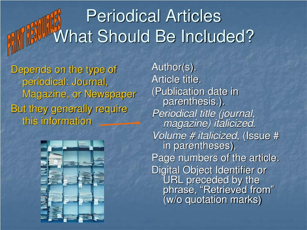 Periodical Articles