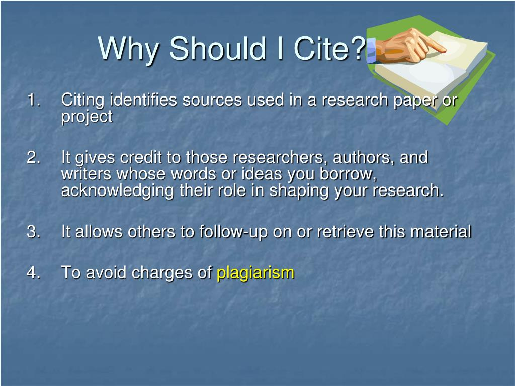 Why Should I Cite?