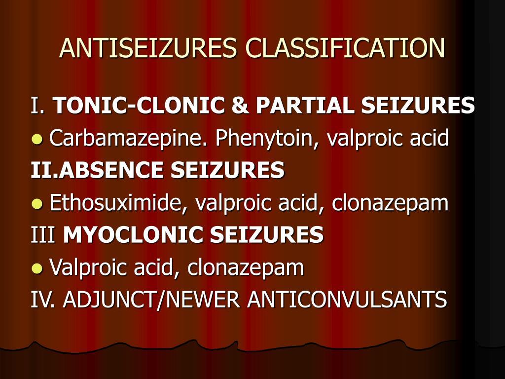 ANTISEIZURES CLASSIFICATION