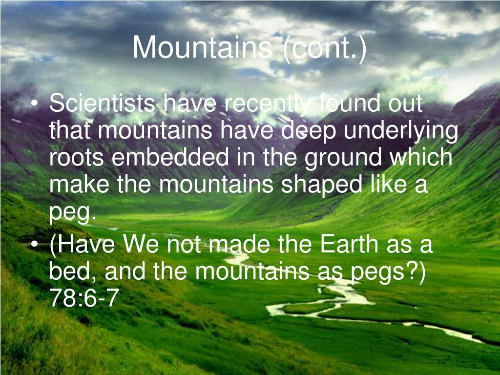 Mountains (cont.)
