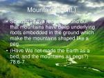 mountains cont