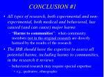 conclusion 1