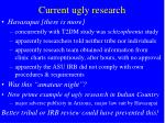 current ugly research