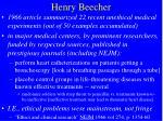henry beecher