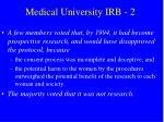 medical university irb 2