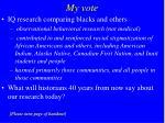 my vote