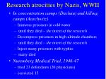 research atrocities by nazis wwii