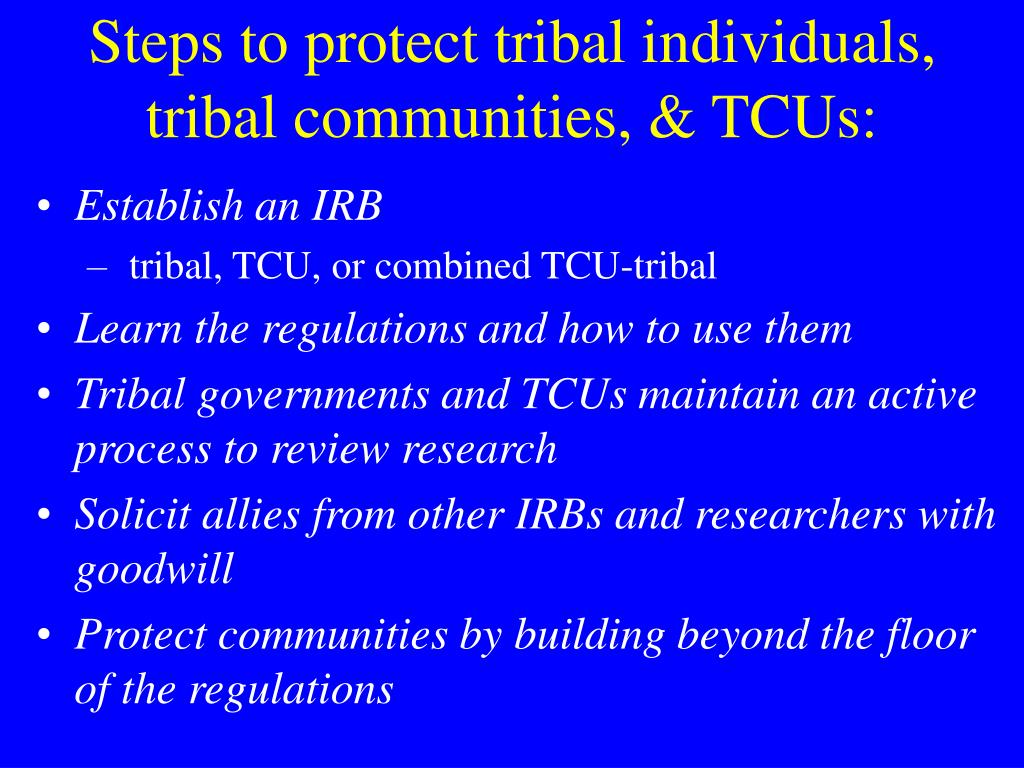 Steps to protect tribal individuals,