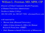 william l freeman md mph cip