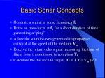 basic sonar concepts
