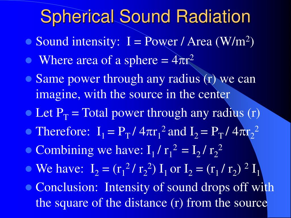 Spherical Sound Radiation