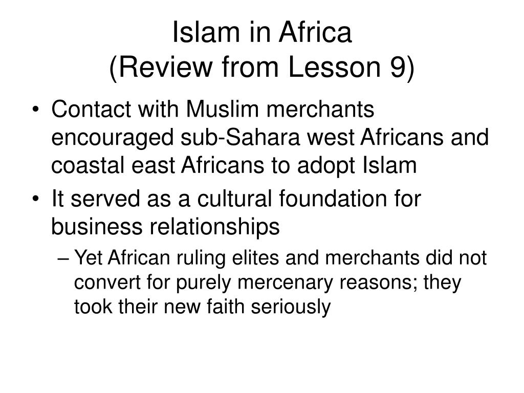 Islam in Africa