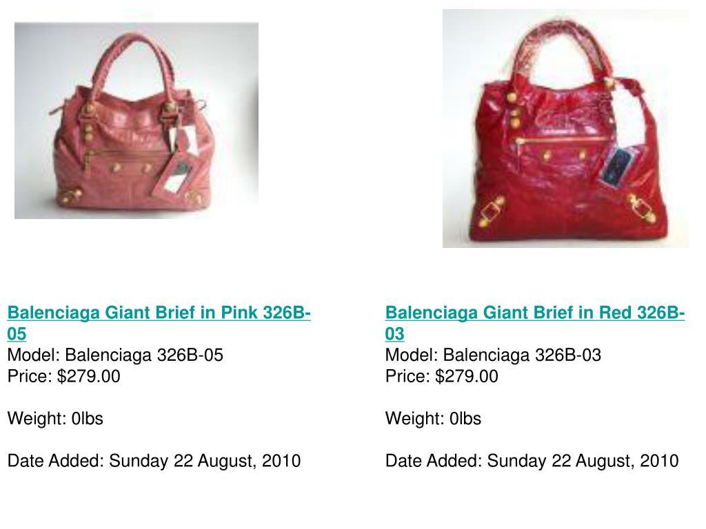 Balenciaga Giant Brief in Pink 326B-05
