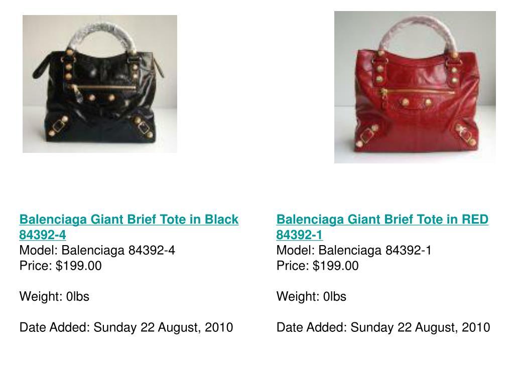 Balenciaga Giant Brief Tote in Black 84392-4