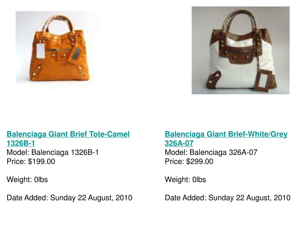 Balenciaga Giant Brief Tote-Camel 1326B-1