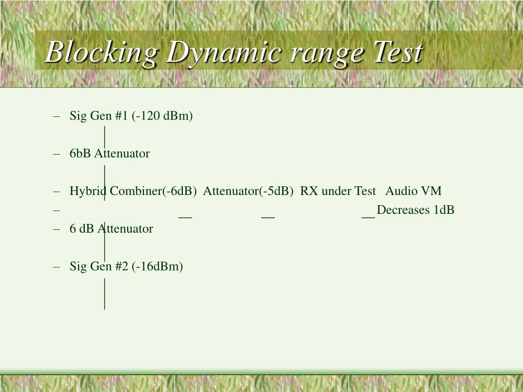 Blocking Dynamic range Test