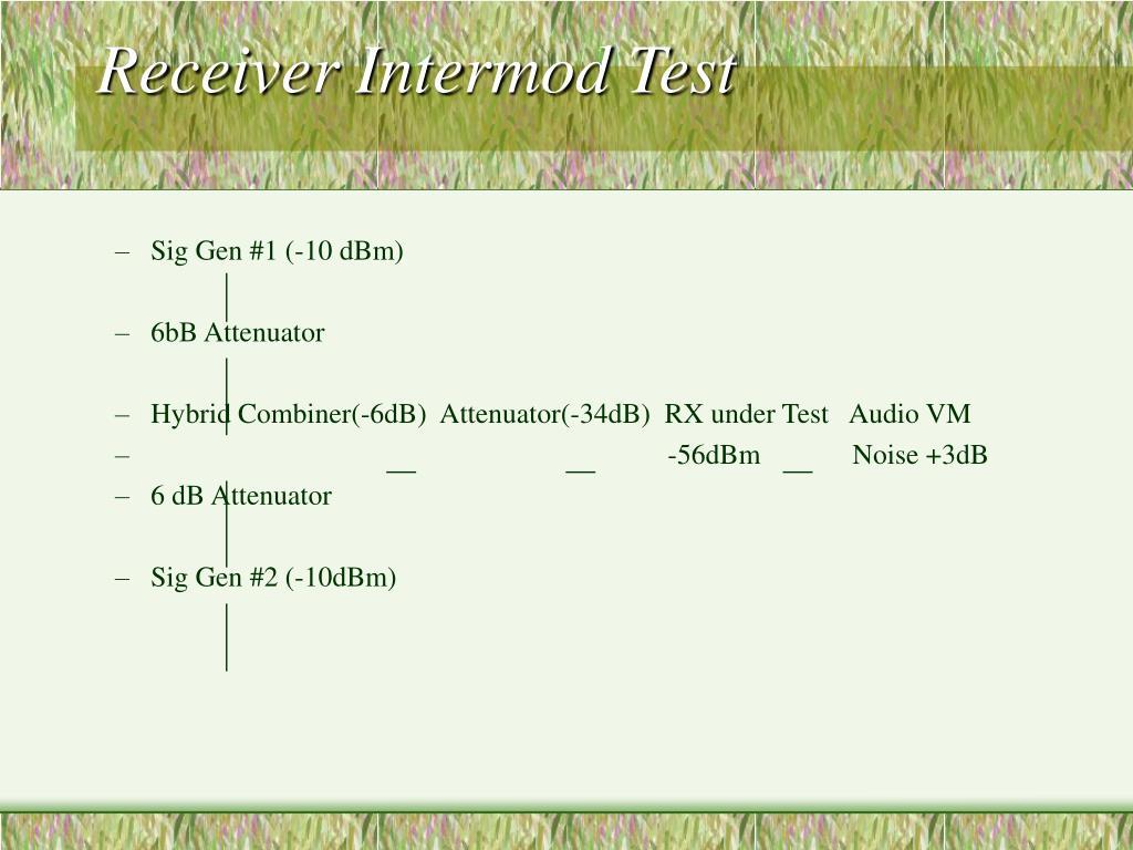 Receiver Intermod Test