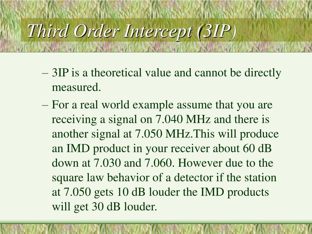 Third Order Intercept (3IP)