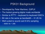 psk31 background