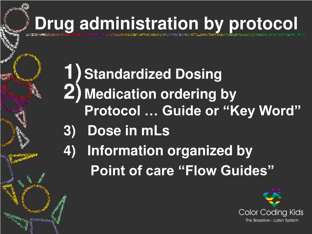 Drug administration by protocol