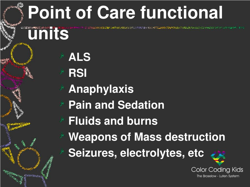 Point of Care functional units