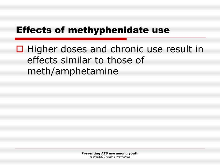 Effects of methyphenidate use