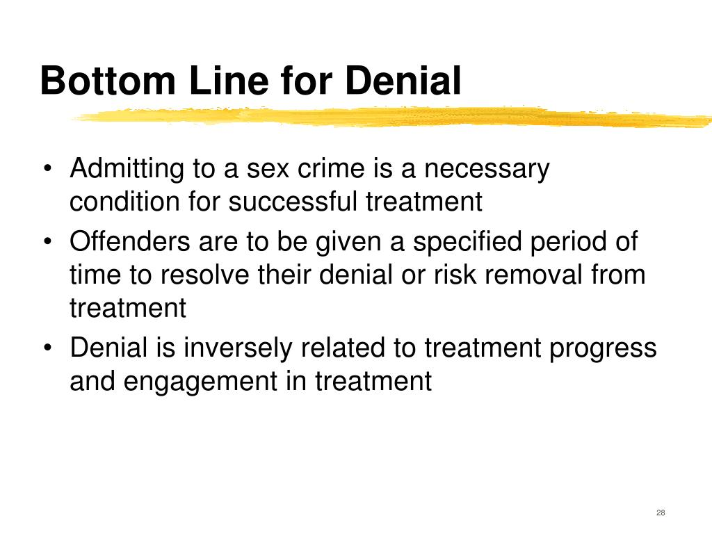 Effects of sexual denial
