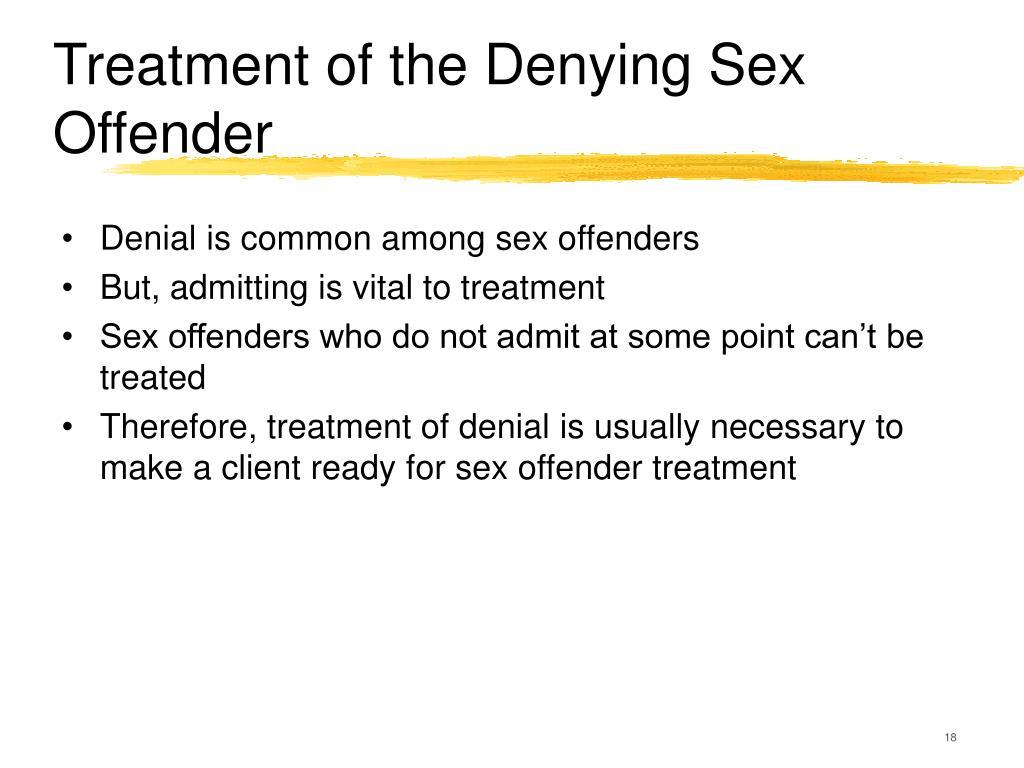 Four phases of sex offender treatment