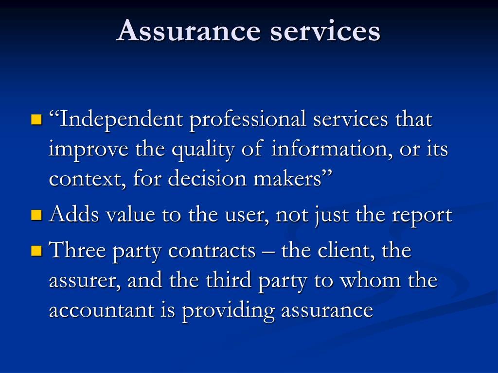 Assurance services