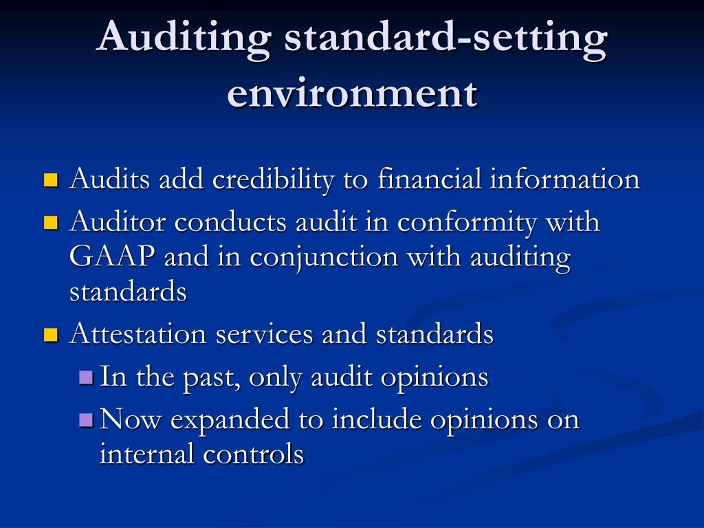 Auditing standard-setting environment