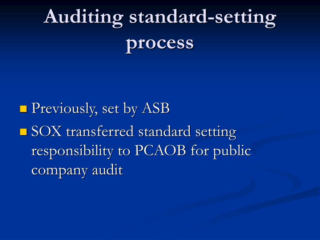 Auditing standard-setting process