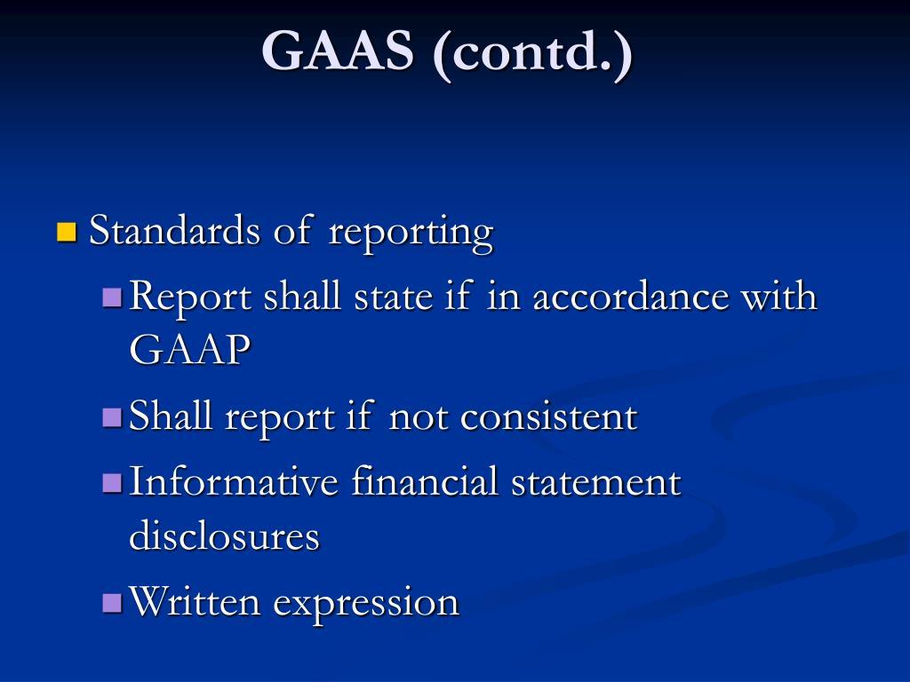 GAAS (contd.)
