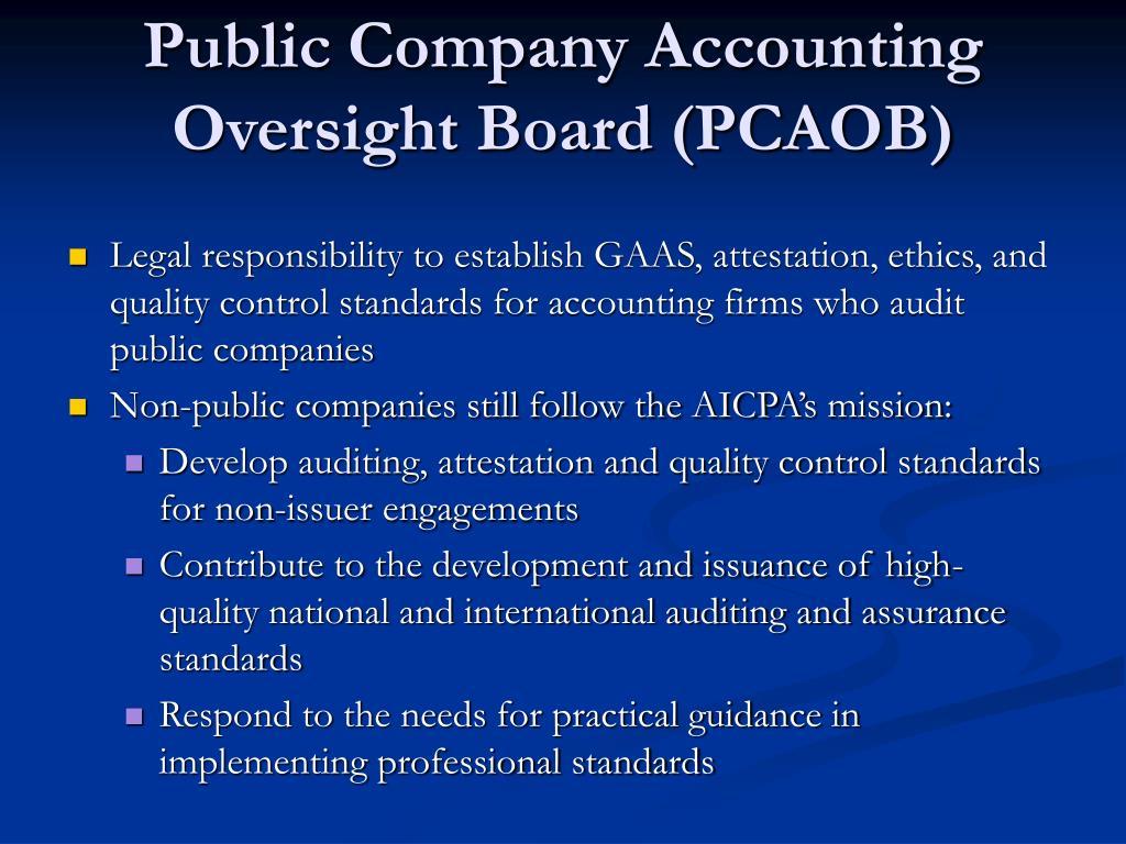 Public Company Accounting Oversight Board (PCAOB)