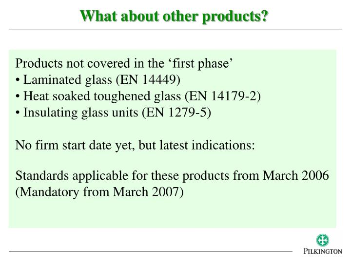 What about other products?
