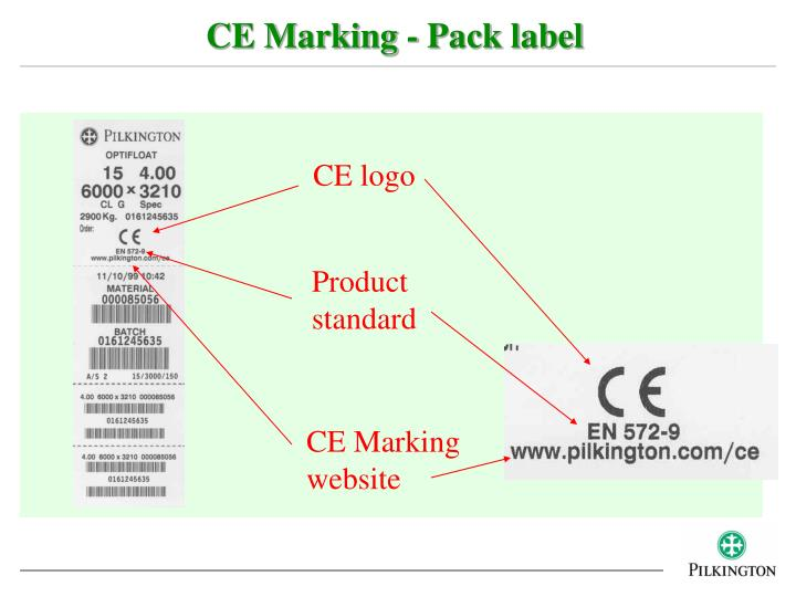 CE Marking - Pack label