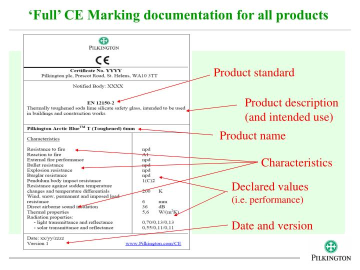 'Full' CE Marking documentation for all products