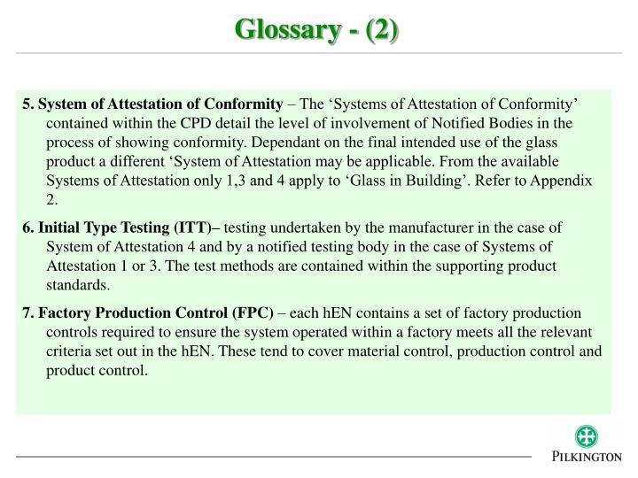 Glossary - (2)