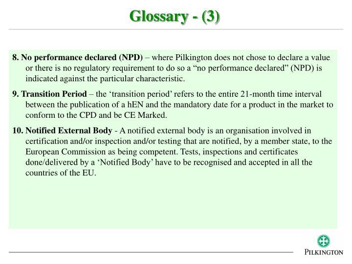 Glossary - (3)
