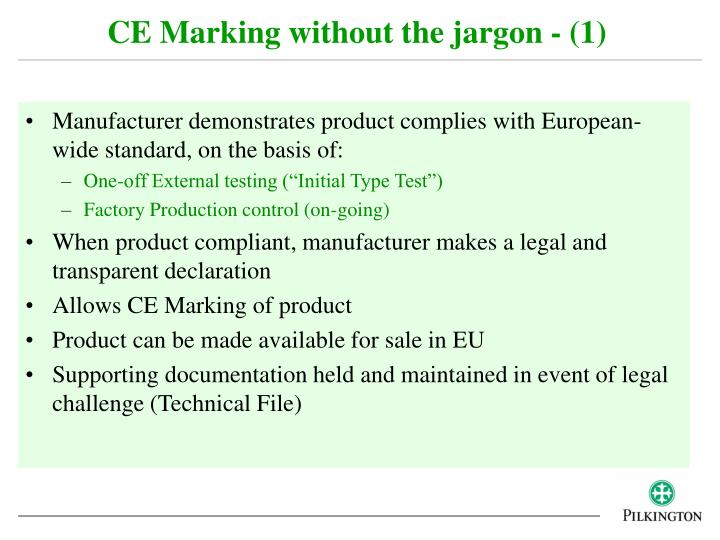 CE Marking without the jargon - (1)