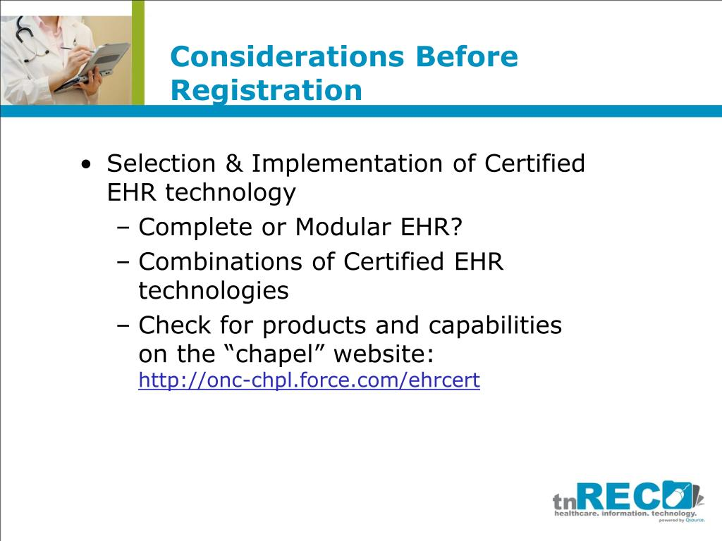Considerations Before Registration