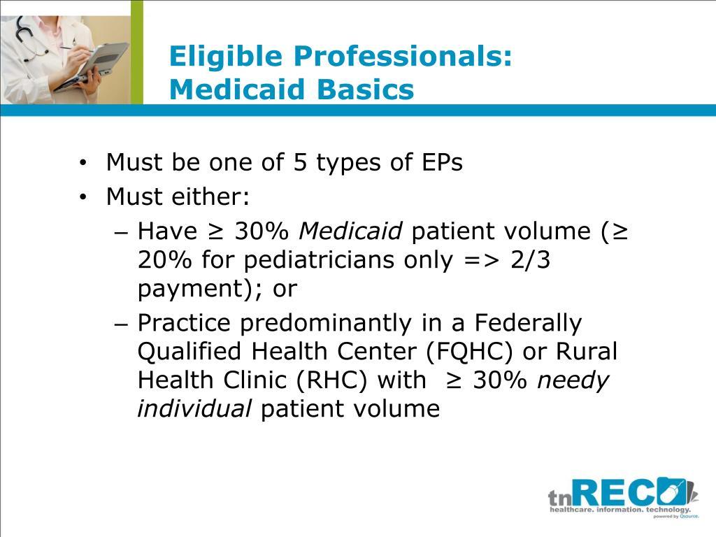 Eligible Professionals: