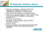 ep eligibility medicare basics