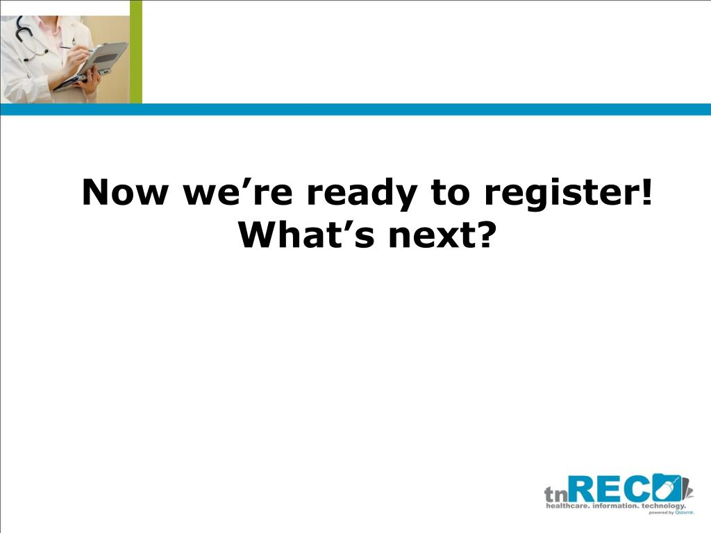 Now we're ready to register!