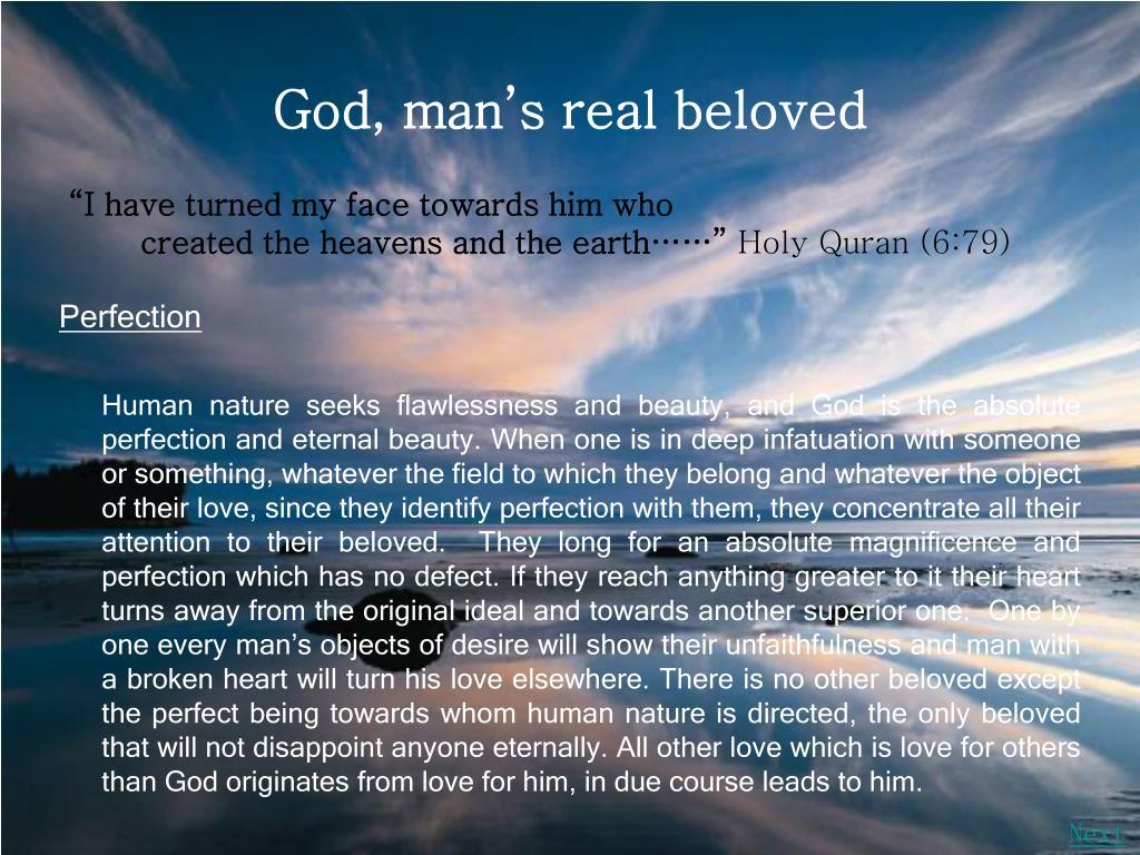 God, man's real beloved
