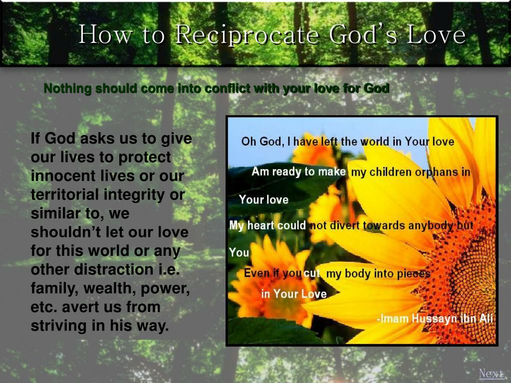 How to Reciprocate God's Love