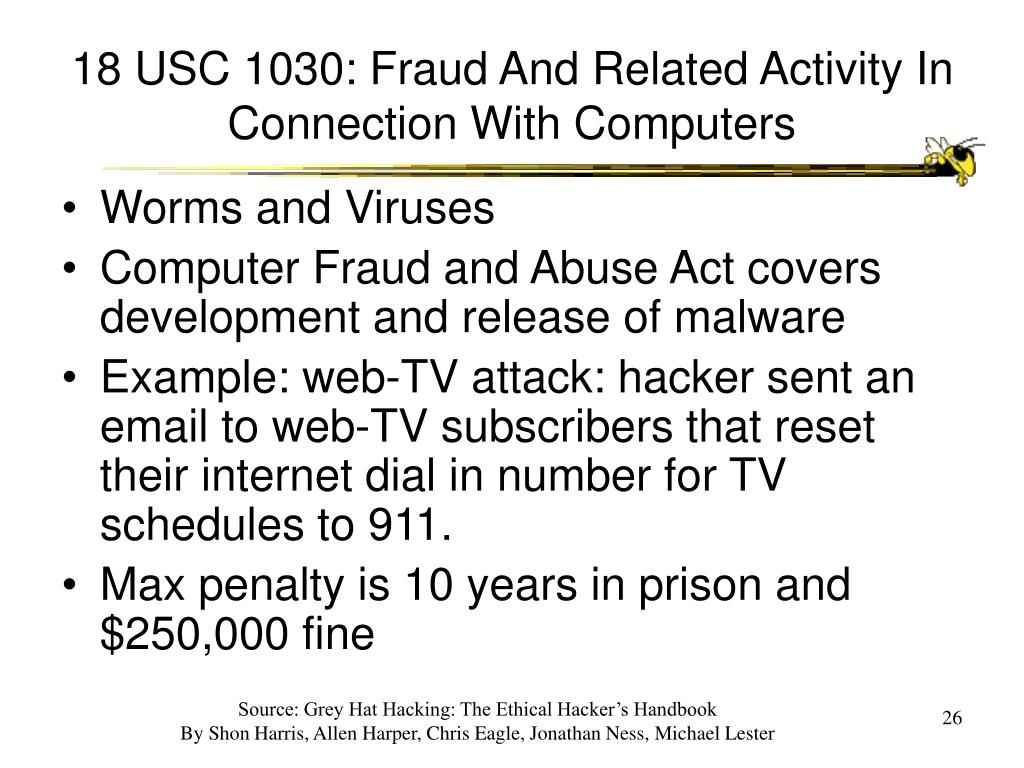 18 USC 1030: Fraud And Related Activity In Connection With Computers