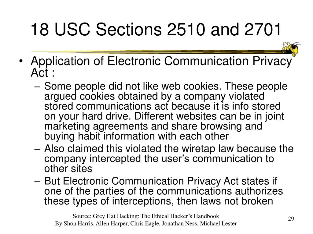 18 USC Sections 2510 and 2701