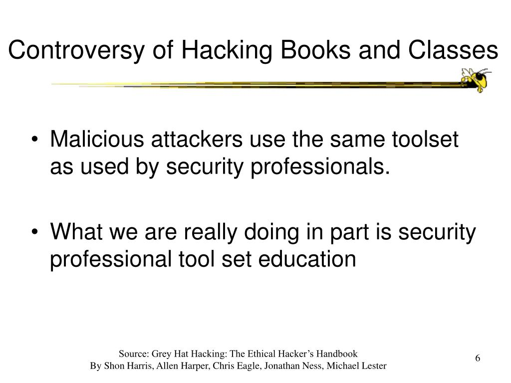 Controversy of Hacking Books and Classes