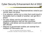 cyber security enhancement act of 2002