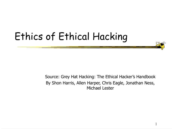 Ethics of ethical hacking